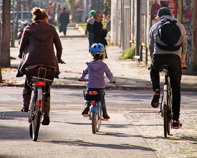 refugees on bikes